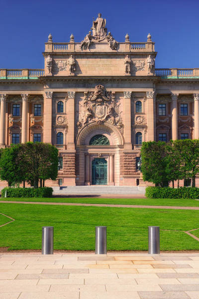 Photograph - Swedish Parliament - Riksdag - Stockholm by Photography  By Sai