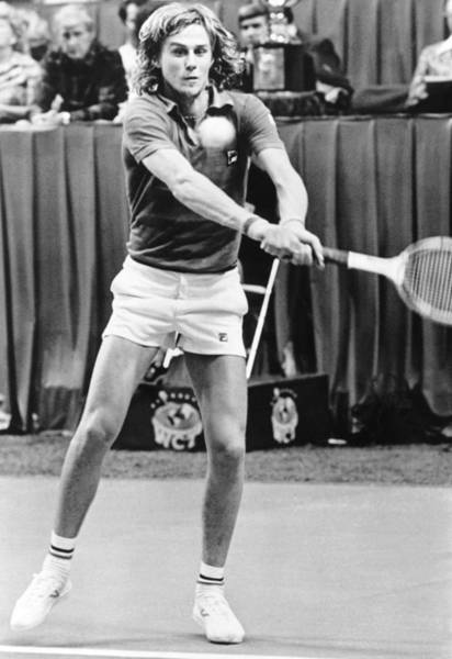 Sportsmen Photograph - Swedish Tennis Star Bjorn Borg by Underwood Archives