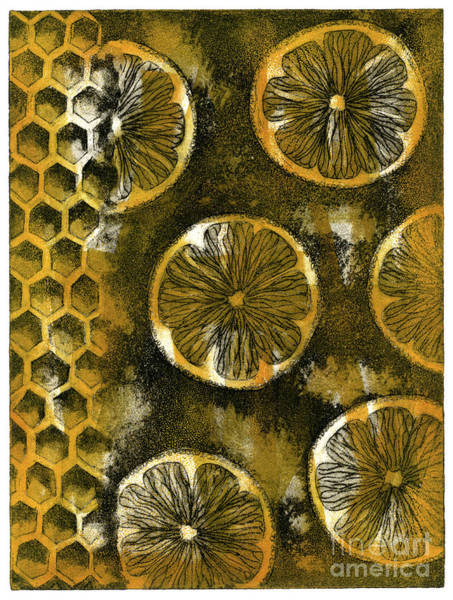 Painting - Sweet-and-sour - Sweet-sour - Flavor - Opposition - Honey - Honeycomb - Citron - Bees Nest  by Urft Valley Art