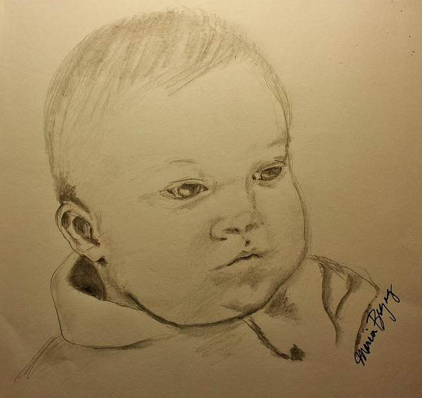 Drawing - Sweet Baby Boy by Marcia Breznay