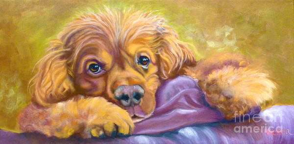 Wall Art - Painting - Sweet Boy Rescued by Susan A Becker