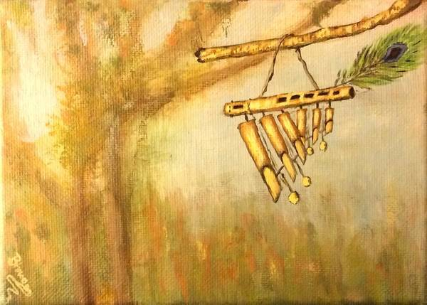 Wind Chime Painting - Divine Breeze by Bhrugen Bhaleeya