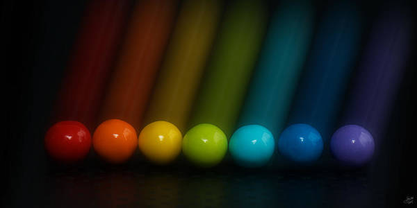 Depth Of Field Photograph - Sweet Candy Rainbow by Lisa Knechtel