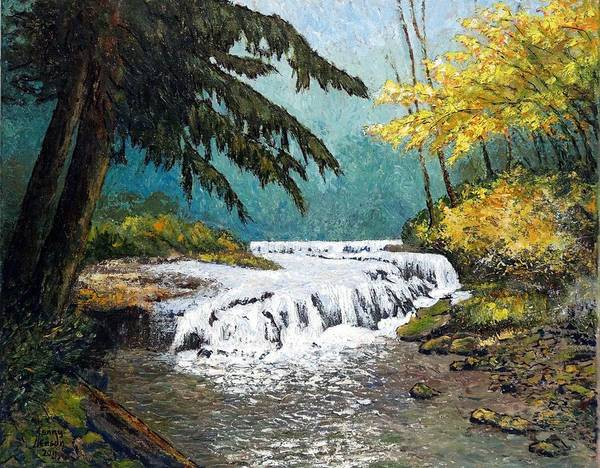 Brook Mixed Media - Sweet Creek Autumn by Kenny Henson