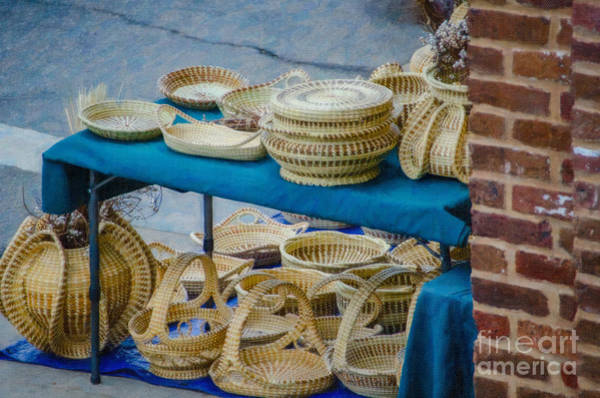 Photograph - Sweet Grass Baskets Of Charleston Sc by Dale Powell
