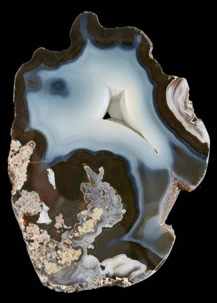 Geodes Photograph - Sweet Home Agate by Natural History Museum, London/science Photo Library