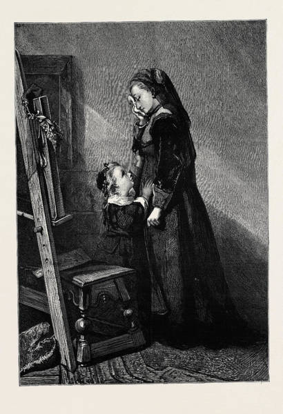Wall Art - Drawing - Sweet My Child, I Live For Thee From The Picture By Madame by English School
