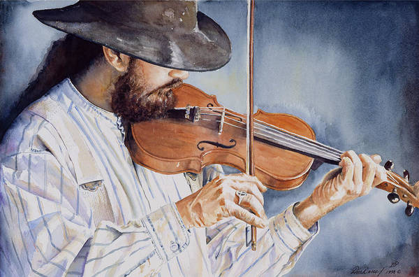 Violinist Wall Art - Painting - Sweet Serenade by Don Dane
