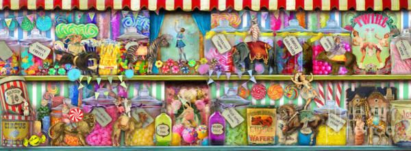 Carousel Digital Art - Sweet Shop Panoramic by MGL Meiklejohn Graphics Licensing