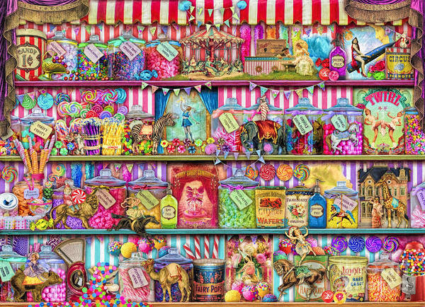 Carousel Digital Art - Sweet Shoppe by MGL Meiklejohn Graphics Licensing