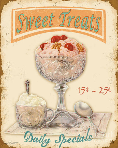 Cream Wall Art - Digital Art - Sweet Treats by Jean Plout