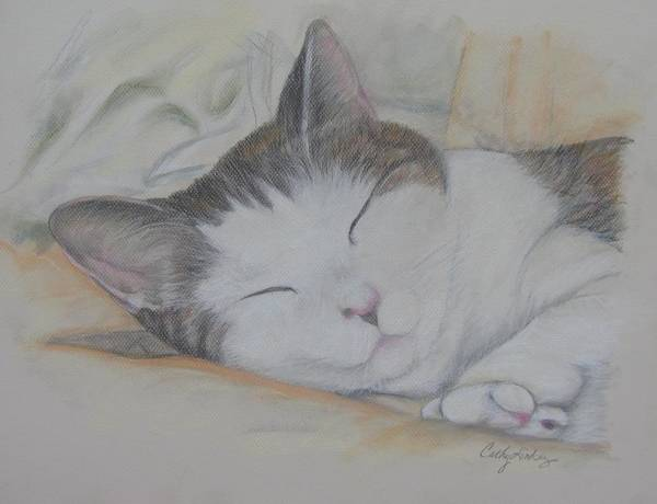 Wall Art - Painting - Sweet While Sleeping by Cathy Lindsey