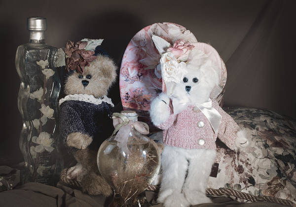 Wall Art - Photograph - Sweetheart Bears Vintage by Camille Lopez