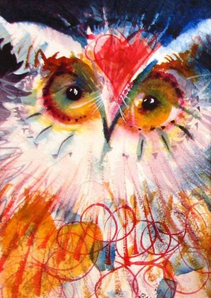 Painting - Sweetheart Hooter by Laurel Bahe