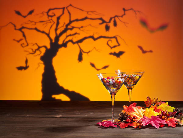Photograph - Sweets In Halloween Setting With Tree by U Schade
