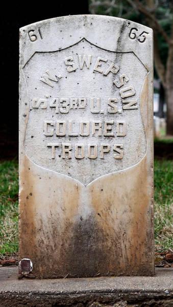 Swepson Tombstone 43rd U. S.  Colored Troops 2013 Art Print