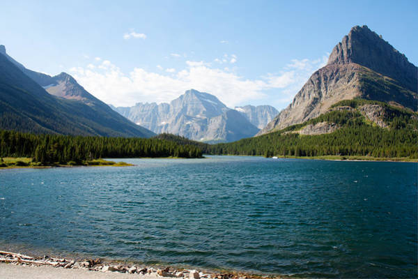 Photograph - Swiftcurrent Lake by John M Bailey