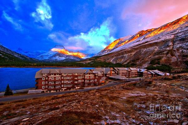 Photograph - Swiftcurrent Sunrise by Adam Jewell