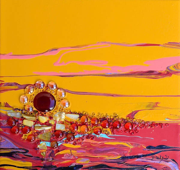 Wall Art - Mixed Media - Swiftly Go The Days by Donna Blackhall