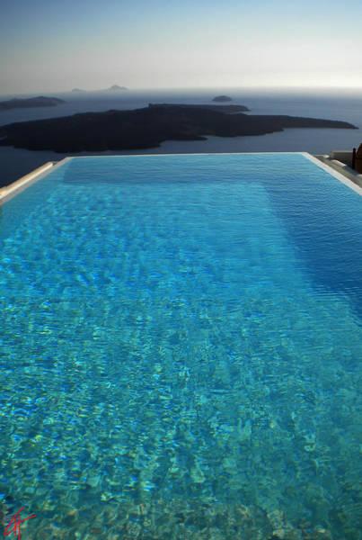 Photograph - Swim Above The Santorini Island by Colette V Hera  Guggenheim