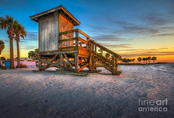Guard Tower Wall Art - Photograph - Swim At Your Own Risk by Marvin Spates