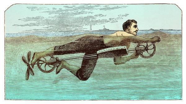 Crank Photograph - Swimming Apparatus by David Parker