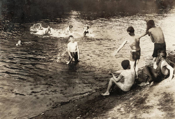 Photograph - Swimming Hole, 1916 by Granger