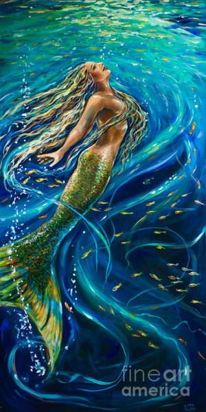 Swimming To The Surface Art Print