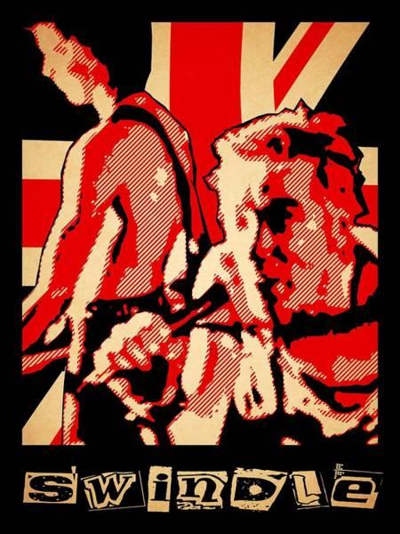 Punk Rock Digital Art - Swindle by Lance Vaughn