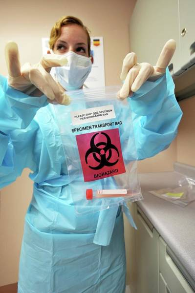 Military Air Base Photograph - Swine Flu Sample by Us Air Force, Kathrine Mcdowell/science Photo Library