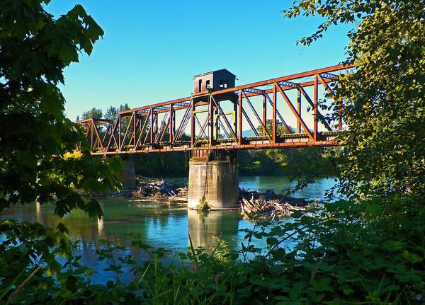 Shotwell Digital Art - Swing Bridge Relic by Seth Shotwell