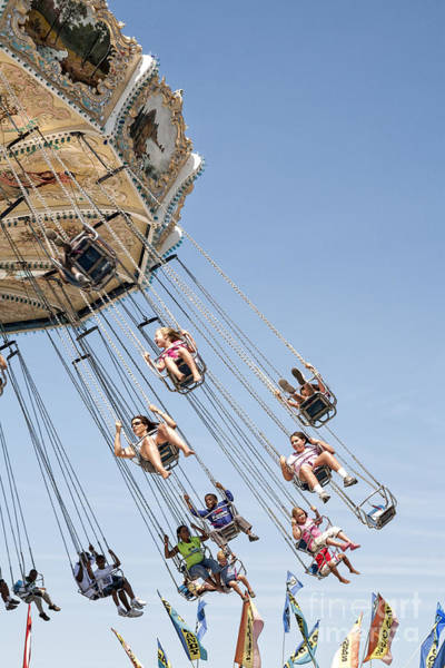 Wall Art - Photograph - Swing Carousel At A County Fair by William Kuta