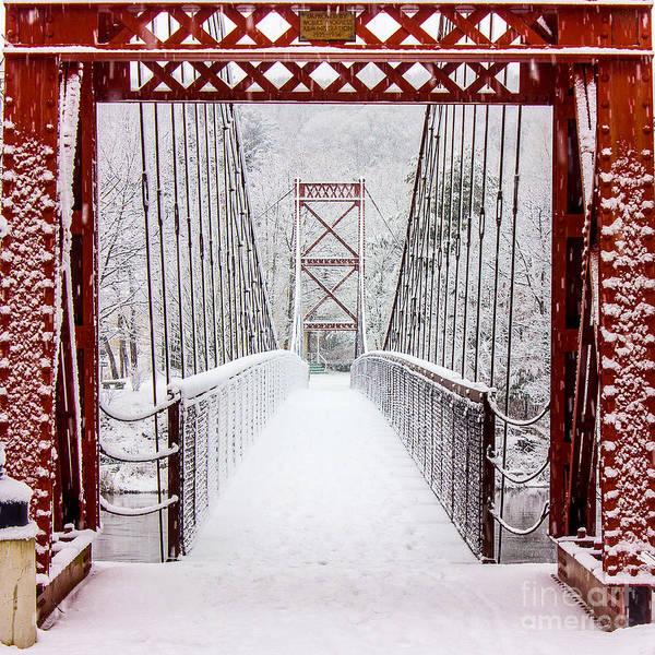 Maine Photograph - Swinging Bridge by Benjamin Williamson