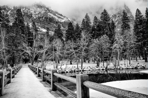 Photograph - Swinging Bridge In Winter by Cat Connor