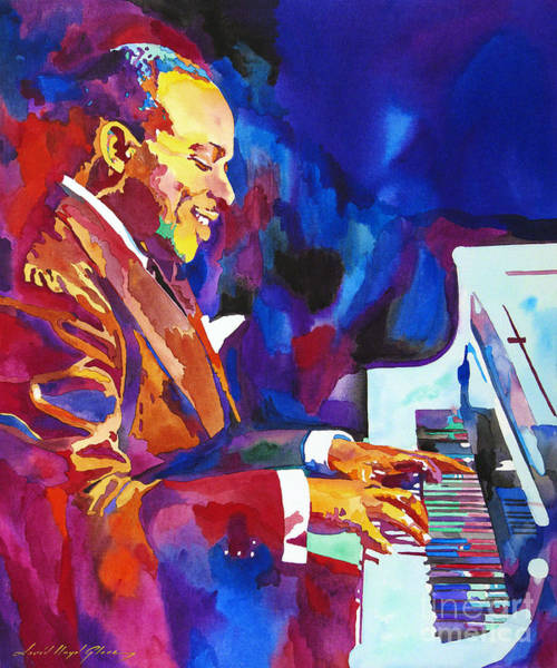 Piano Player Painting - Swinging With Count Basie by David Lloyd Glover