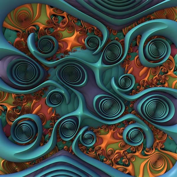 Wall Art - Digital Art - Swirl Central by Lyle Hatch