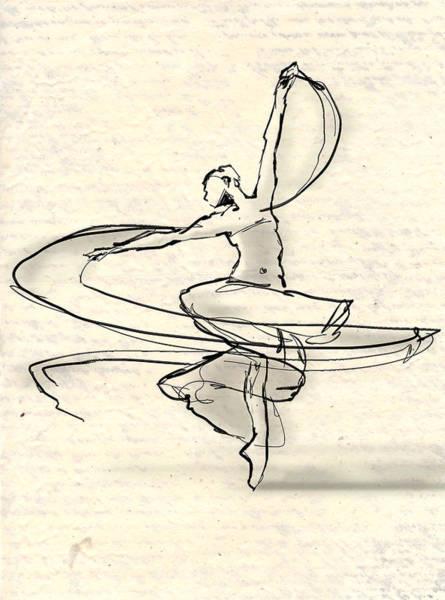 Wall Art - Drawing - Swirl by H James Hoff