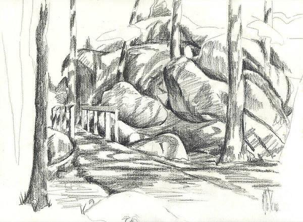 Drawing - Swirling Cast Shadows At Elephant Rocks  No Ctc101 by Kip DeVore
