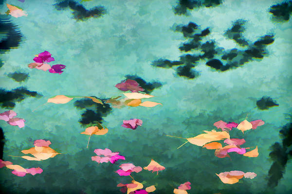 Swirling Leaves And Petals 6 Art Print