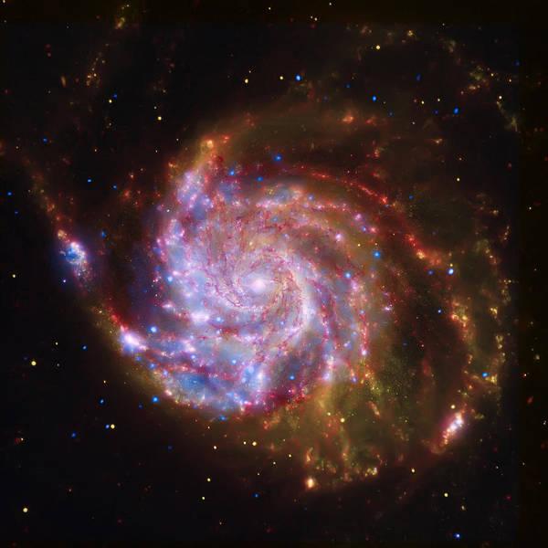 Wall Art - Photograph - Swirling Red Galaxy by Jennifer Rondinelli Reilly - Fine Art Photography