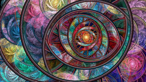 Julian Digital Art - Swirling Rings by Peggi Wolfe