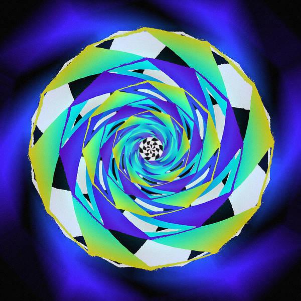 Drawing - Swirling Vortex Seed by Derek Gedney