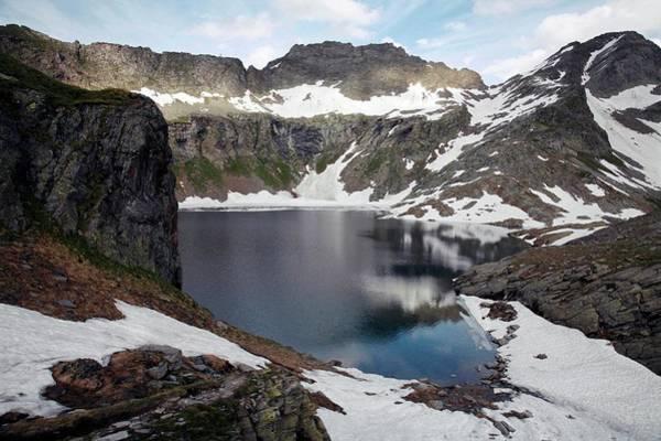 Wall Art - Photograph - Swiss Alpine Lake by Michael Szoenyi/science Photo Library