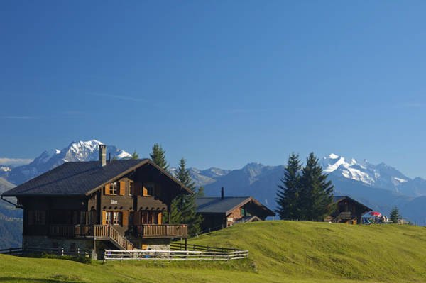 Photograph - Swiss Alps - Beautiful Chalets by Matthias Hauser