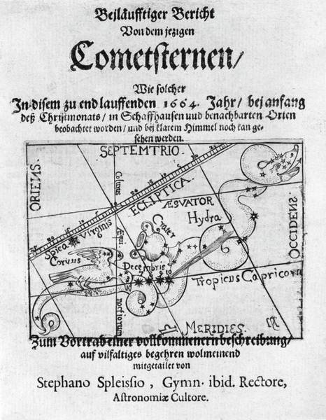 1665 Wall Art - Photograph - Swiss Book On The Comet Of 1664-5 by Royal Astronomical Society