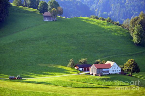 Photograph - Swiss Farm House by Susanne Van Hulst