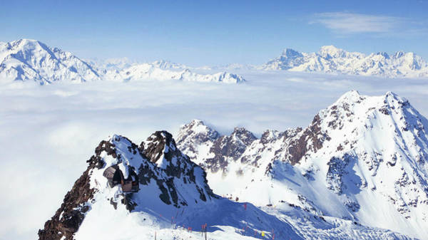 Verbier Photograph - Swiss Mountain Tops, Mont Fort Verbier by Olivia Bell Photography