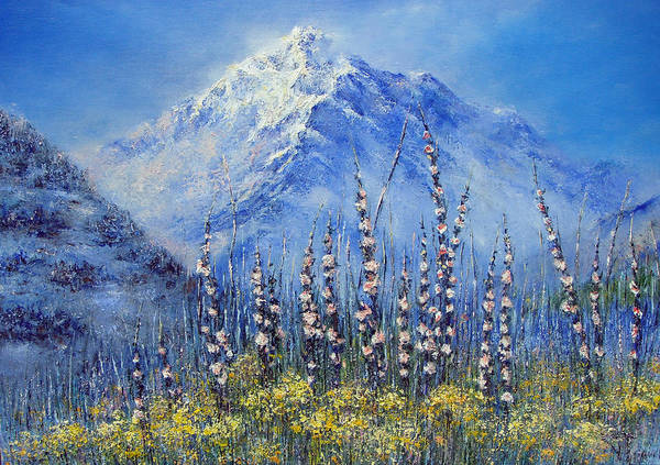 Aira Wall Art - Painting - Swiss Om Maunt by Aira Palitra