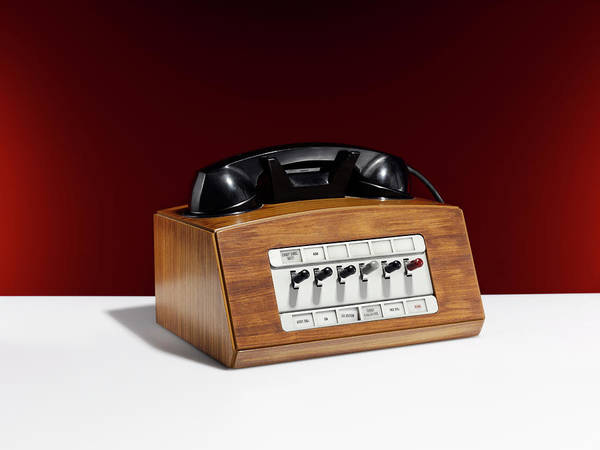 Wood Photograph - Switchboard Telephone by Adrian Burke