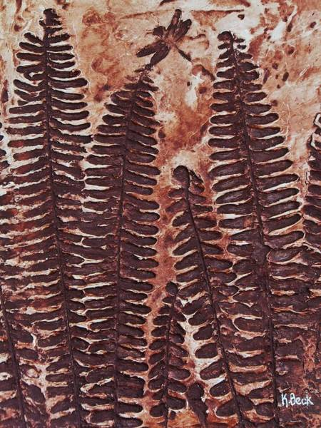 Wall Art - Painting - Sword Fern Fossil by Katherine Young-Beck